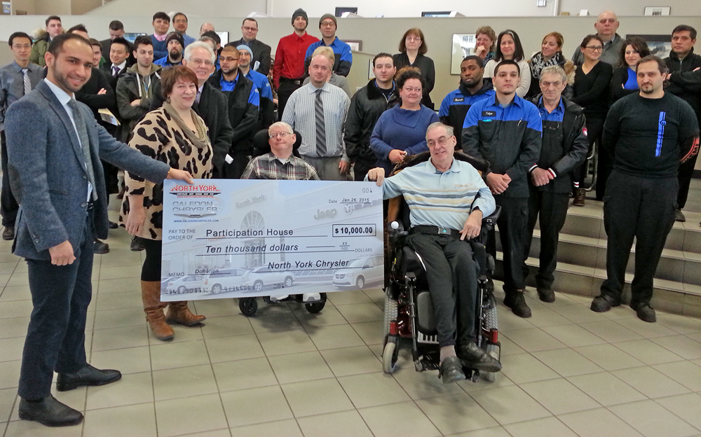 North York Chysler Cheque Presentation